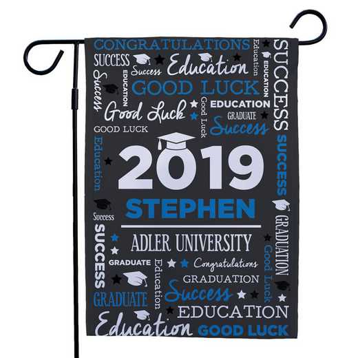 830140082-BLUE: PGS Grad Word Art Gasrden Flag Blue