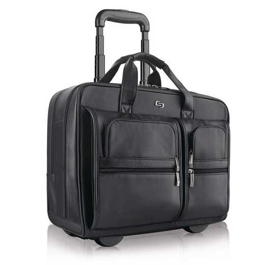 D957-4: Solo Franklin Leather Rolling Case