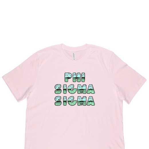 Phi Sigma Sigma Spring Sunrise Bubble Font-Pink