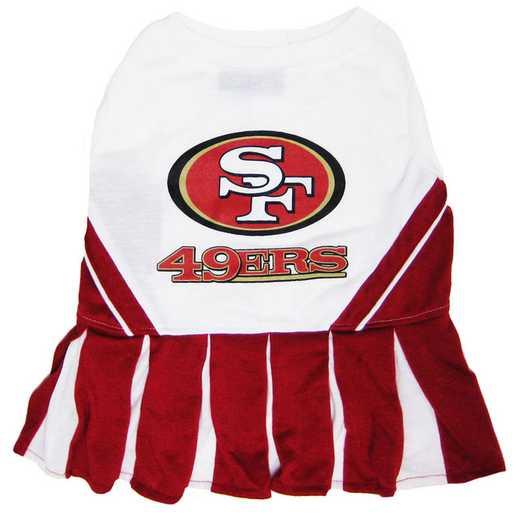 SAN-4007: SAN FRANCISCO 49ERS Pet Cheerleader Outfit