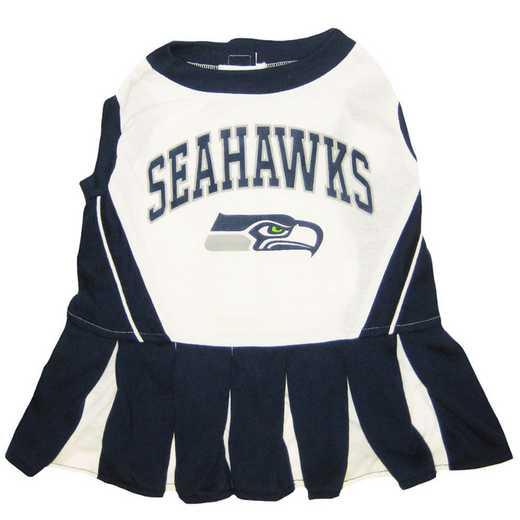 SEA-4007: SEATTLE SEAHAWKS Pet Cheerleader Outfit