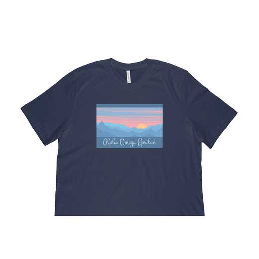 Alpha Omega Epsilon Mountain Scene T-Shirt