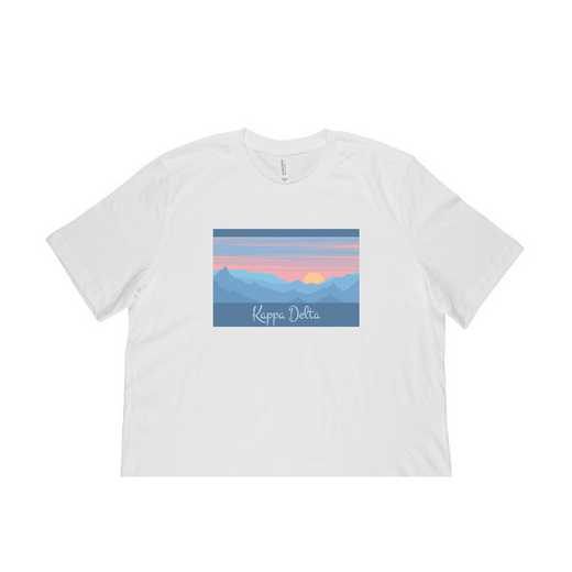 Kappa Delta Mountain Scene T-Shirt-White