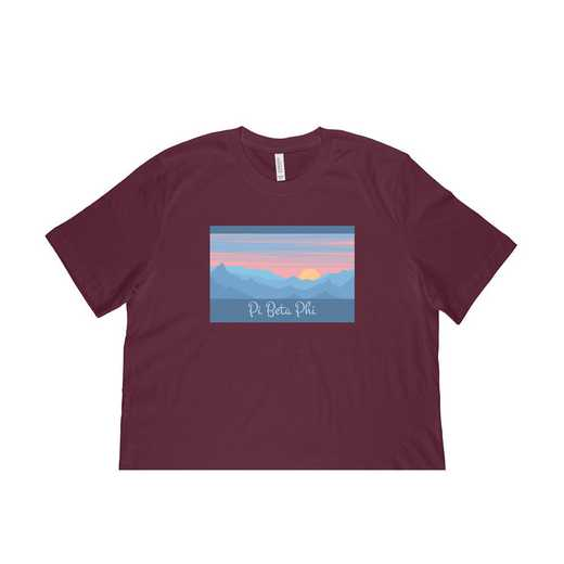 Pi Beta Phi Mountain Scene T-Shirt-Teal