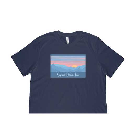Sigma Delta Tau Mountain Scene T-Shirt-Navy