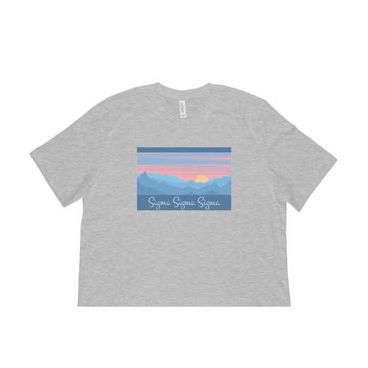 Sigma Sigma Sigma Mountain Scene T-Shirt-Gray