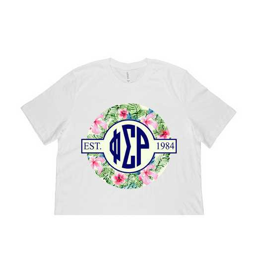 Phi Sigma Rho Tropical Hibiscus Circle Seal T-Shirt