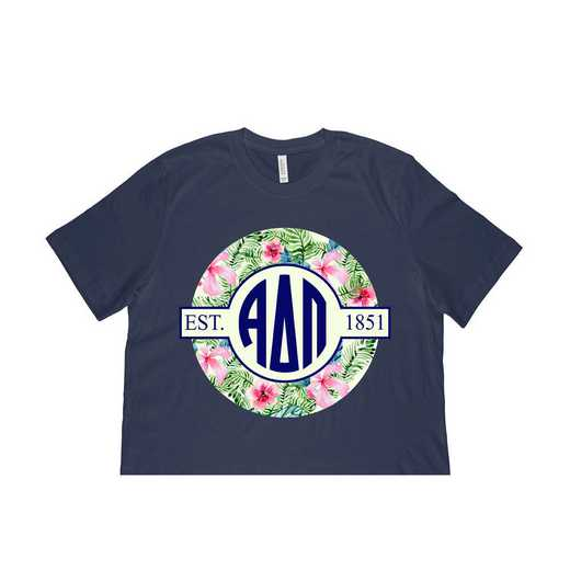 Alpha Delta Pi Tropical Hibiscus Circle Seal T-Shirt