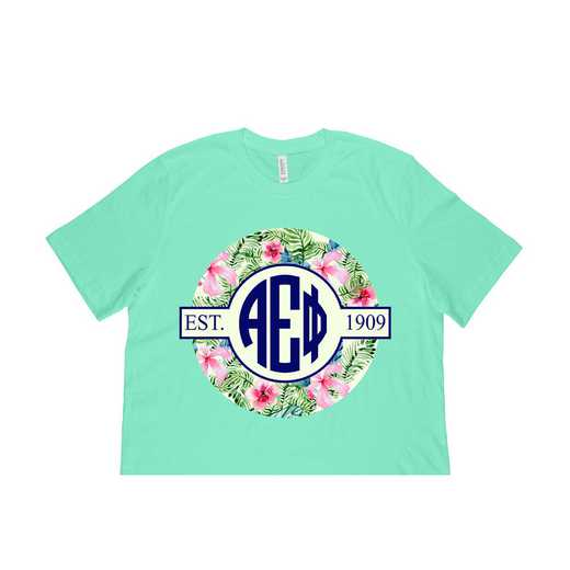 Alpha Epsilon Phi Tropical Hibiscus Circle Seal T-Shirt