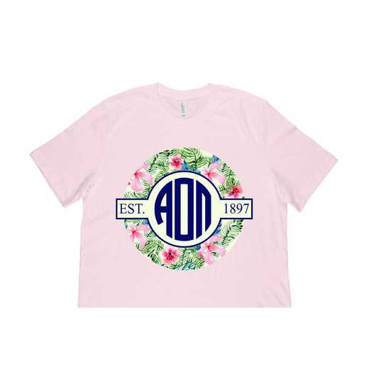 Alpha Omicron Pi Tropical Hibiscus Circle Seal T-Shirt
