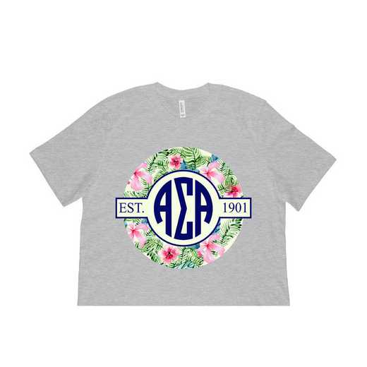 Alpha Sigma Alpha Tropical Hibiscus Circle Seal T-Shirt