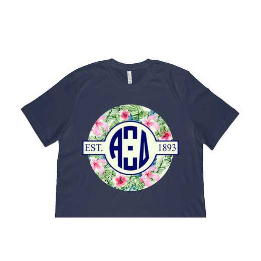 Alpha Xi Delta Tropical Hibiscus Circle Seal T-Shirt