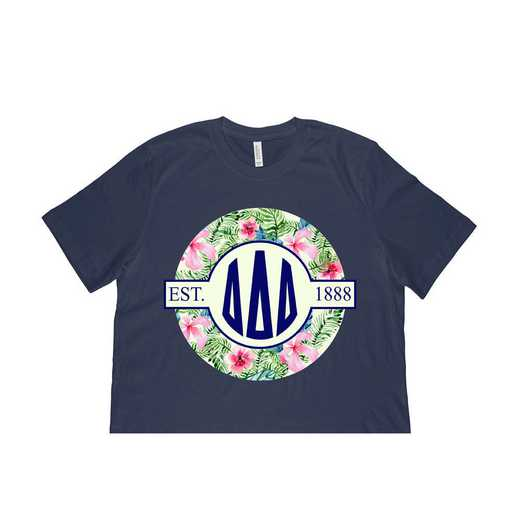Delta Delta Delta Tropical Hibiscus Circle Seal T-Shirt