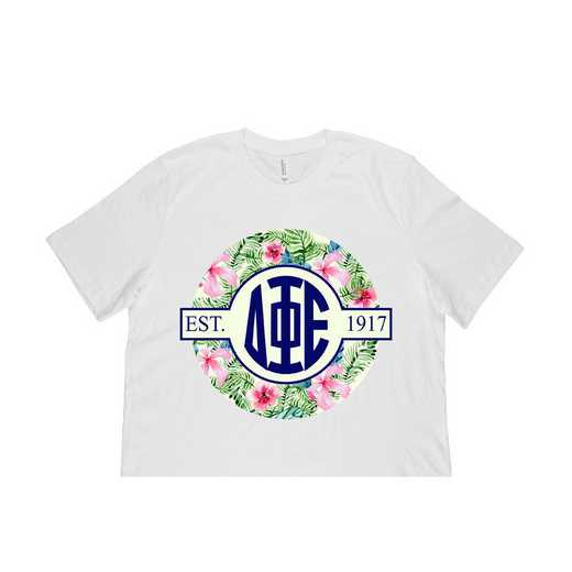 Delta Phi Epsilon Tropical Hibiscus Circle Seal T-Shirt