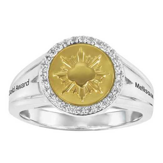 Girl Scout Gold Award Coin Ring